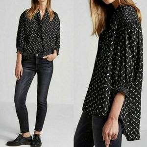 Current/Elliott The Willow Shirt Black Size 2